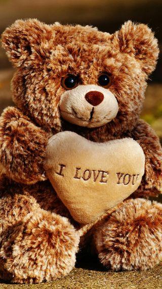 Обои на телефон love, icio, peluche i love you, любовь, ты, медведь