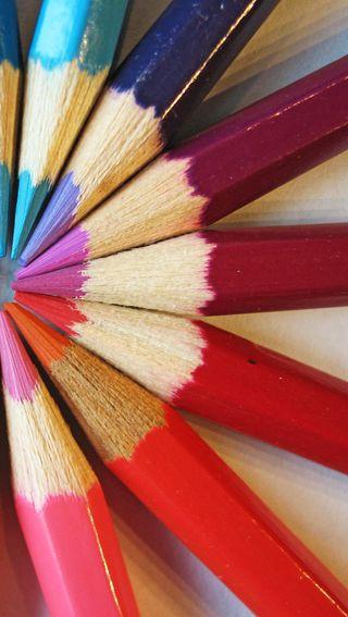 Обои на телефон красочные, crayon
