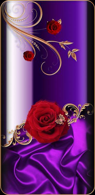 Обои на телефон шелк, девчачие, фиолетовые, симпатичные, розы, прекрасные, красые, золотые, бабочки, satin, roseofelegance