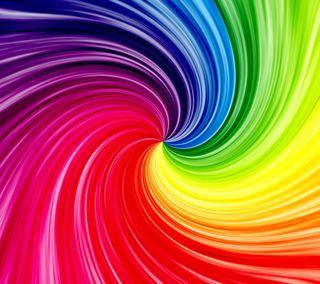 Обои на телефон спираль, цветные, радуга, абстрактные