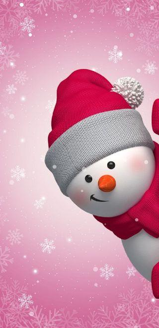 Обои на телефон снеговик, рождество, snesko snowman