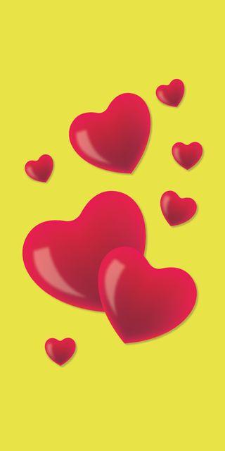 Обои на телефон любовники, сердце, романтика, любовь, желтые, валентинка, love, february, 3д, 3d