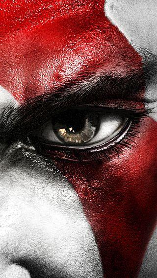 Обои на телефон пс4, пс3, кратос, злость, война, красые, глаза, бог, белые, the eye of kratos, ps4, gow, god of war