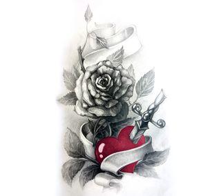 Обои на телефон панк, чернила, хипстер, татуировки, тату, сердце, крутые, красые, дизайн, арт, zedgetat2, zedgeob2, red heart tattoo, art
