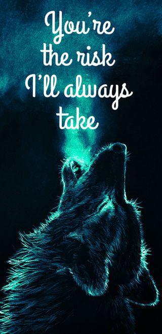 Обои на телефон сильный, цитата, волк