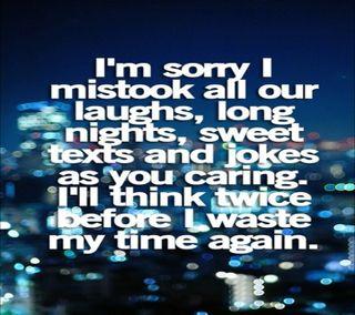 Обои на телефон доверять, время, sorry, 2013