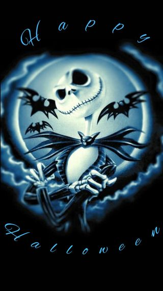 Обои на телефон джек, хэллоуин, синие, кошмар, skellington, halloween jack, blue halloween jack