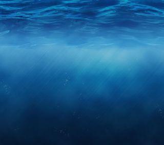 Обои на телефон эпл, синие, океан, море, вода, mac, ios 8, ios, apple