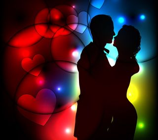 Обои на телефон валентинка, сердце, романтика, пара, любовь, vectro, love