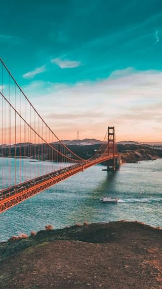 Обои на телефон мост, калифорния, золотые, ворота, golden gate bridge