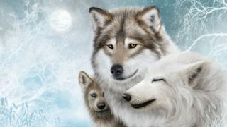 Обои на телефон супер, охотник, картина, волк, wolf painting