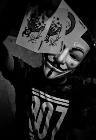 Обои на телефон хакер, джокер, анонимус