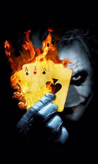 Обои на телефон пламя, фильмы, туз, страшные, победитель, опасные, огонь, джокер, бэтмен, joker ace, entertain