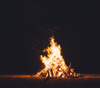 Обои на телефон дерево, темные, огонь, абстрактные, bonfire