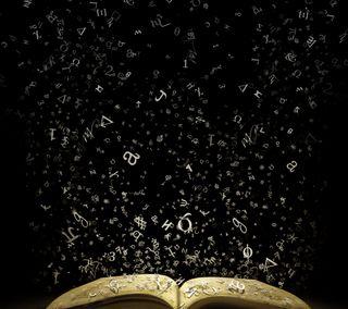 Обои на телефон книга, черные, буквы, 3д, 3d