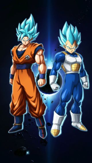 Обои на телефон синие, мяч, дракон, гоку, вегета, ssj blue dbfighterz, fighterz, dragon, dbz