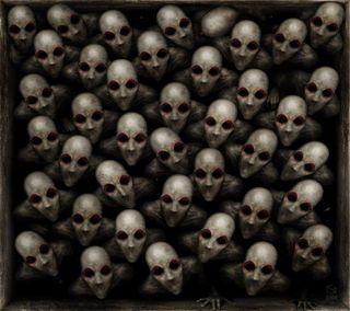 Обои на телефон группа, темные, сюрреалистичный, смерть, ожидание, лица, глаза, dying