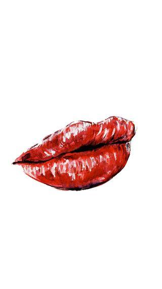 Обои на телефон губы, красые