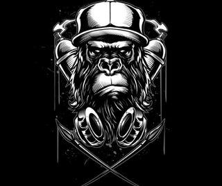Обои на телефон обезьяны, sds