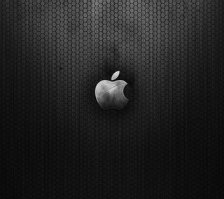Обои на телефон эпл, черные, mac, apple