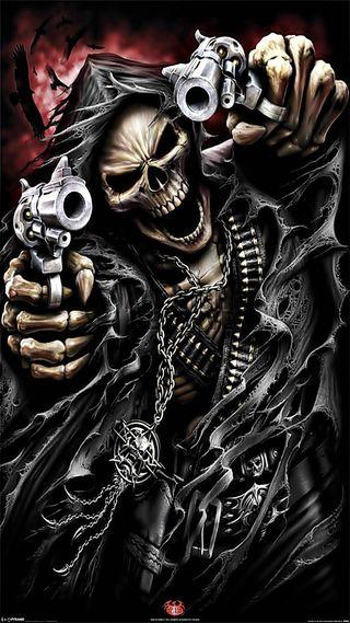 Обои на телефон жнец, череп, страшные, scary skelebone