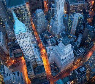 Обои на телефон здания, новый, небоскребы, город, вид, ny, downtown, above