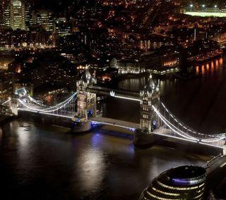 Обои на телефон лондон, ночь, мост, город