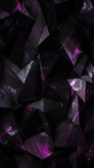 Обои на телефон бриллиант, черные, цифровое, серые, куб, абстрактные, blackberry