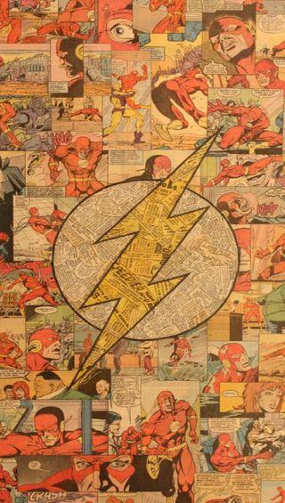 Обои на телефон флэш, комиксы, gfd, flash comic