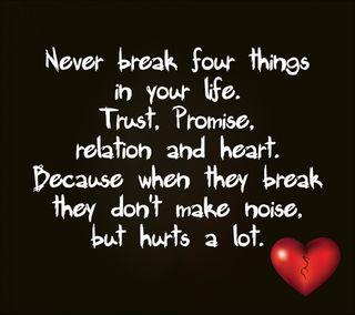 Обои на телефон доверять, цитата, сердце, поговорка, обещание, никогда, знаки, relation, break