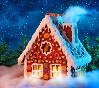 Обои на телефон рождество, дом, время, ginger bread house, christmas house