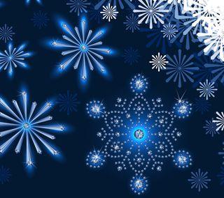Обои на телефон снежинки, снег, сезон, зима, flakes