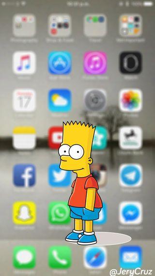 Обои на телефон симпсоны, барт, айфон, bart iphone