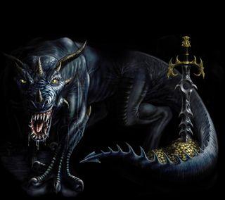 Обои на телефон змея, тень, темные, рептилия, меч, золотые, змеевидный, дрейк, дракон, shadow dragon, dragon