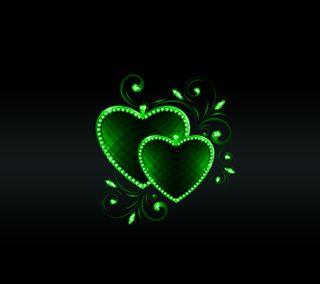 Обои на телефон флирт, сердце, романтика, приятные, новый, любовь, зеленые, дизайн, арт, love, art