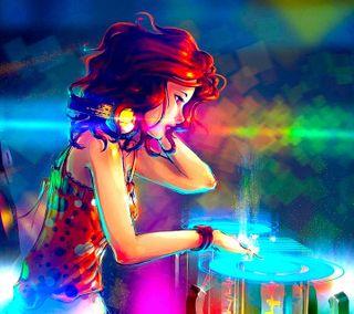 Обои на телефон диджей, цветные, новый, музыка, крутые, красочные, дизайн, девушки, арт, scratch, dj girl, art
