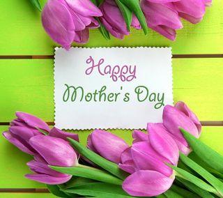Обои на телефон тюльпаны, счастливые, матери, мама, день, весна, happy