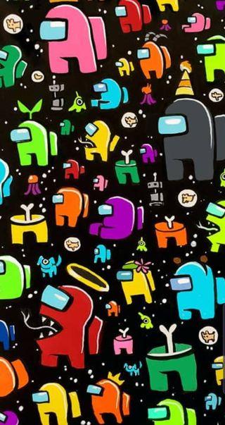 Обои на телефон черные, цветные, красые, амонг, red among us, colors among us, black among us, among us red, among us crewmate, among us colors, among us black