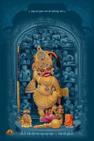 Обои на телефон хануман, золотые, бог, sarangpur, kashtbhajandev, dada