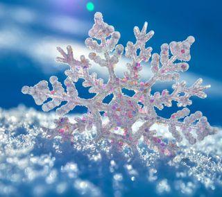 Обои на телефон снежинки, сезон, лед, снег, зима