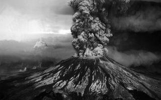 Обои на телефон пыль, взрыв, природа, лава, дым, горы, вулкан