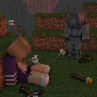 Обои на телефон стрела, робот, меч, майнкрафт, девушки, горы, terminated, shader