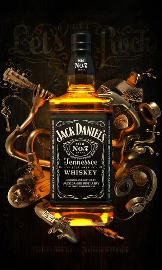 Обои на телефон вечеринка, черные, темные, напиток, логотипы, камни, джек, виски, арт, shot, jack rocks, iconic, art