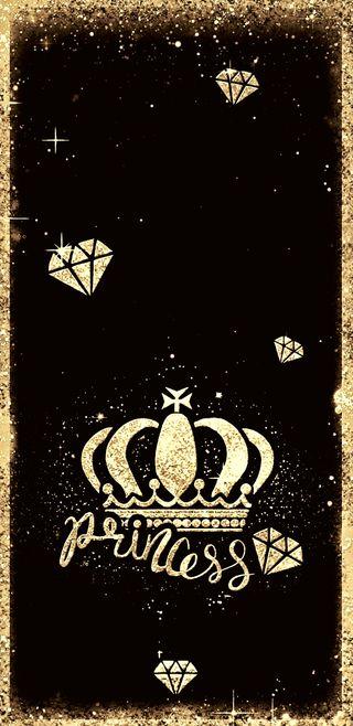 Обои на телефон принцесса, сверкающие, корона, золотые, бриллианты, блестящие, goldprincess