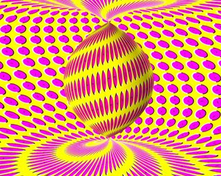 Обои на телефон иллюзии, часы, цветные, твист, розовые, желтые, twist clock illusion