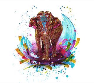 Обои на телефон слон, цветные, рисунки, красочные, далеко, far cry, colourful elephant