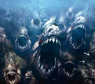 Обои на телефон фильмы, рыба, море, мега, люди, вода, piranha, kill, hd
