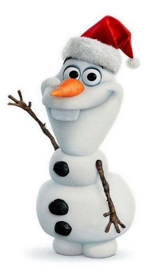 Обои на телефон холодное, счастливые, счастливое, снеговик, санта, рождество, олаф, happy, 750x1334px