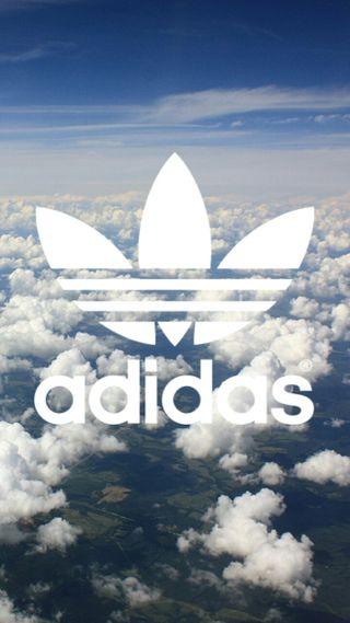 Обои на телефон синие, небо, найк, логотипы, бренды, белые, адидас, search, nike, air, adidas