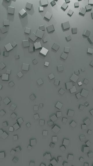 Обои на телефон кубы, зеленые, дизайн, геометрия, абстрактные